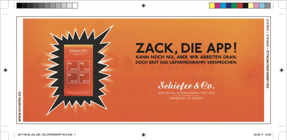 zack die app schiefer co schiefer co edelmetall scheideanstalt. Black Bedroom Furniture Sets. Home Design Ideas