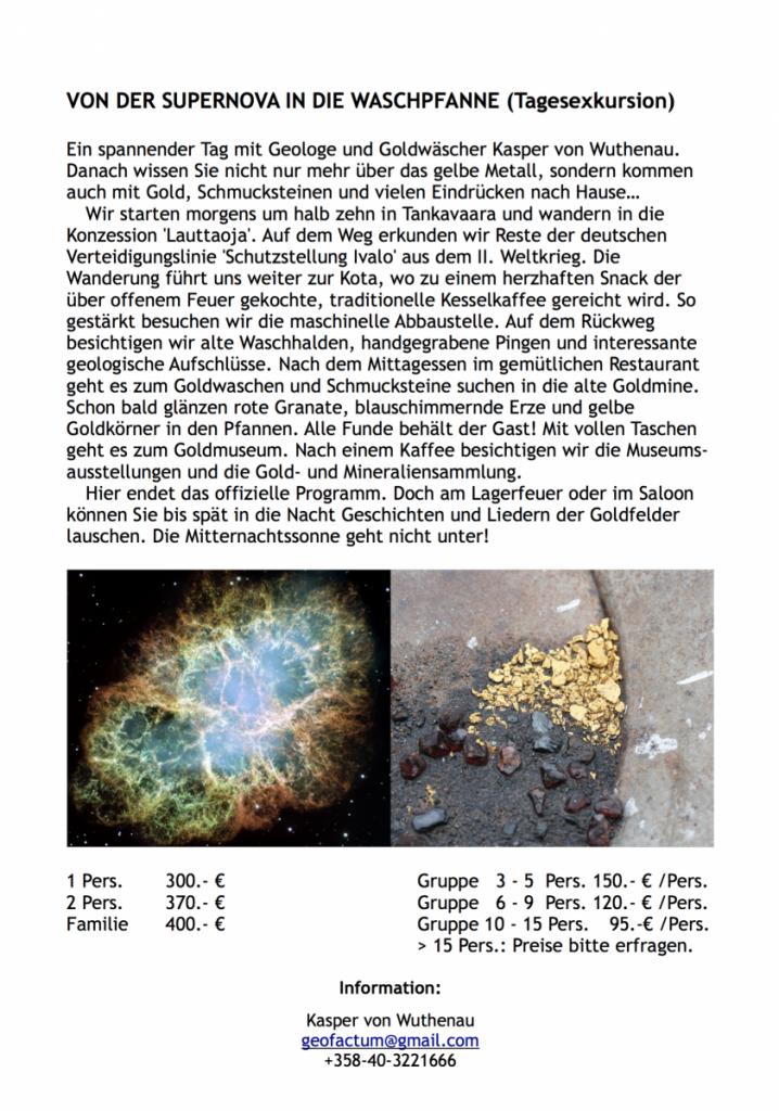 Von der Supernova in die Waschpfanne